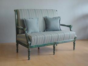 Sofa Neoklasycystyczna niebieska