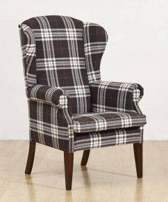 Fotel kominkowy Uszak w tkaninie lobox06